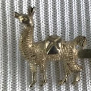 Artisan Jewelry - Adorable Llama Pin Sterling Silver
